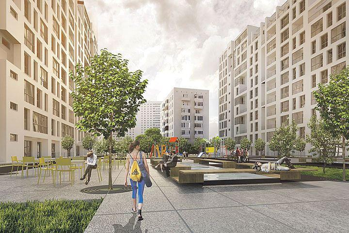 Какой будет придомовая территория новых домов